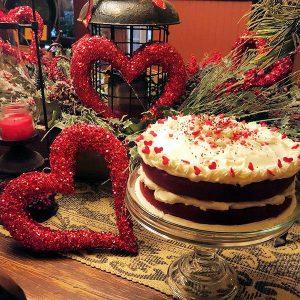 Valentine Day Dessert Treat at Piney Hill B & B