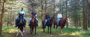 orseback riding at Jordan Hollow Stables