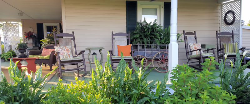 Relax on the Front Porch at Piney Hill