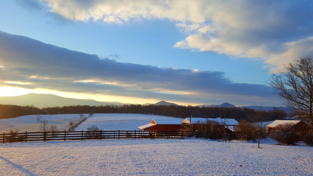 Winter Views from Piney Hill Bed & Breakfast and Cottages in Luray, VA