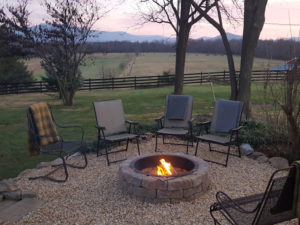 Outdoor Fire Pit on the grounds of Piney Hill Bed & Breakfast in Luray, VA