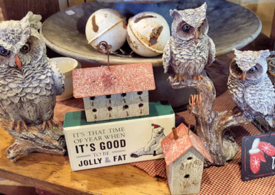 Items for sale in the Country Barn Gift Shop at Piney Hill Bed & Breakfast and Cottages
