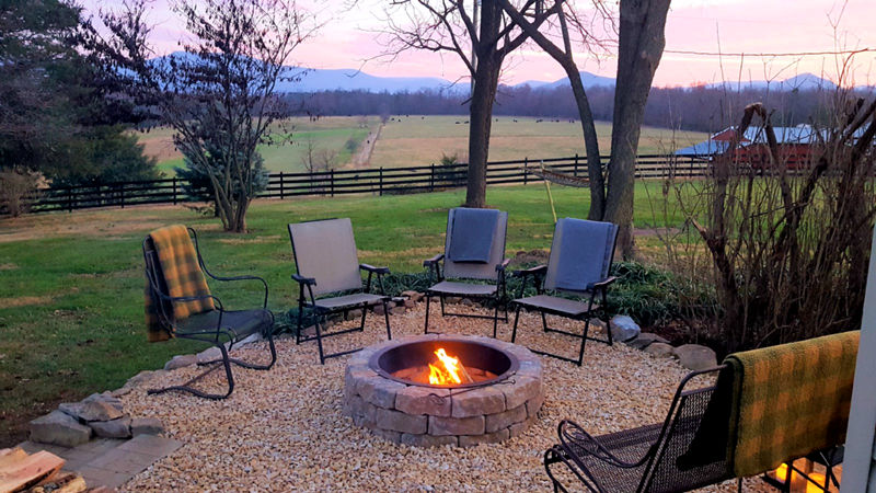 Fire Pit at Piney Hill Bed & Breakfast and Cottages