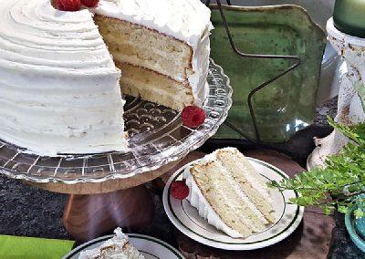 Vanilla Cake with Vanilla Butter Cream