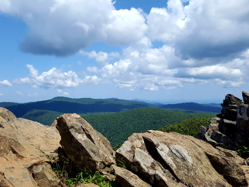 Views from a hiking trail on Skyline Drive in the Shenandoah National Park.